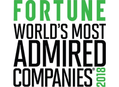 FORTUNE WORLD'S MOST ADMIRED COMPANIES 2018